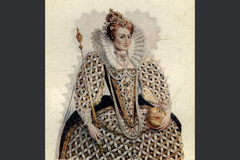 Queen Elizabeth I with crown, sceptre