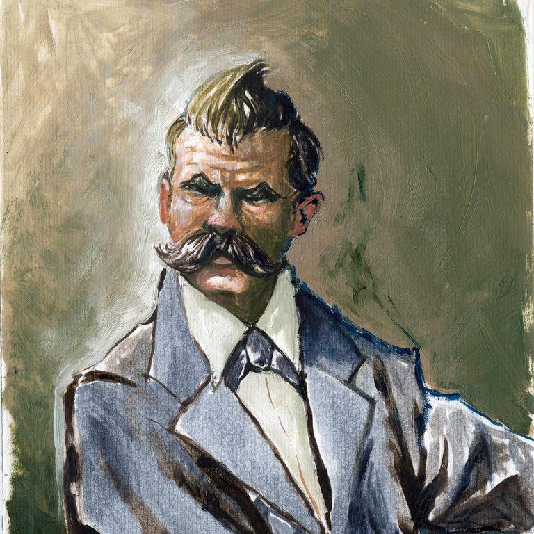 Nietzsche Portrait by Alessandro Lonati