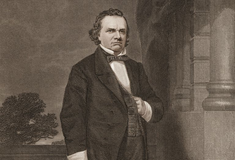 Engraved portrait of Senator Stephen Douglas