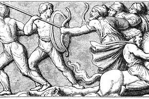 Illustration of Goths fighting