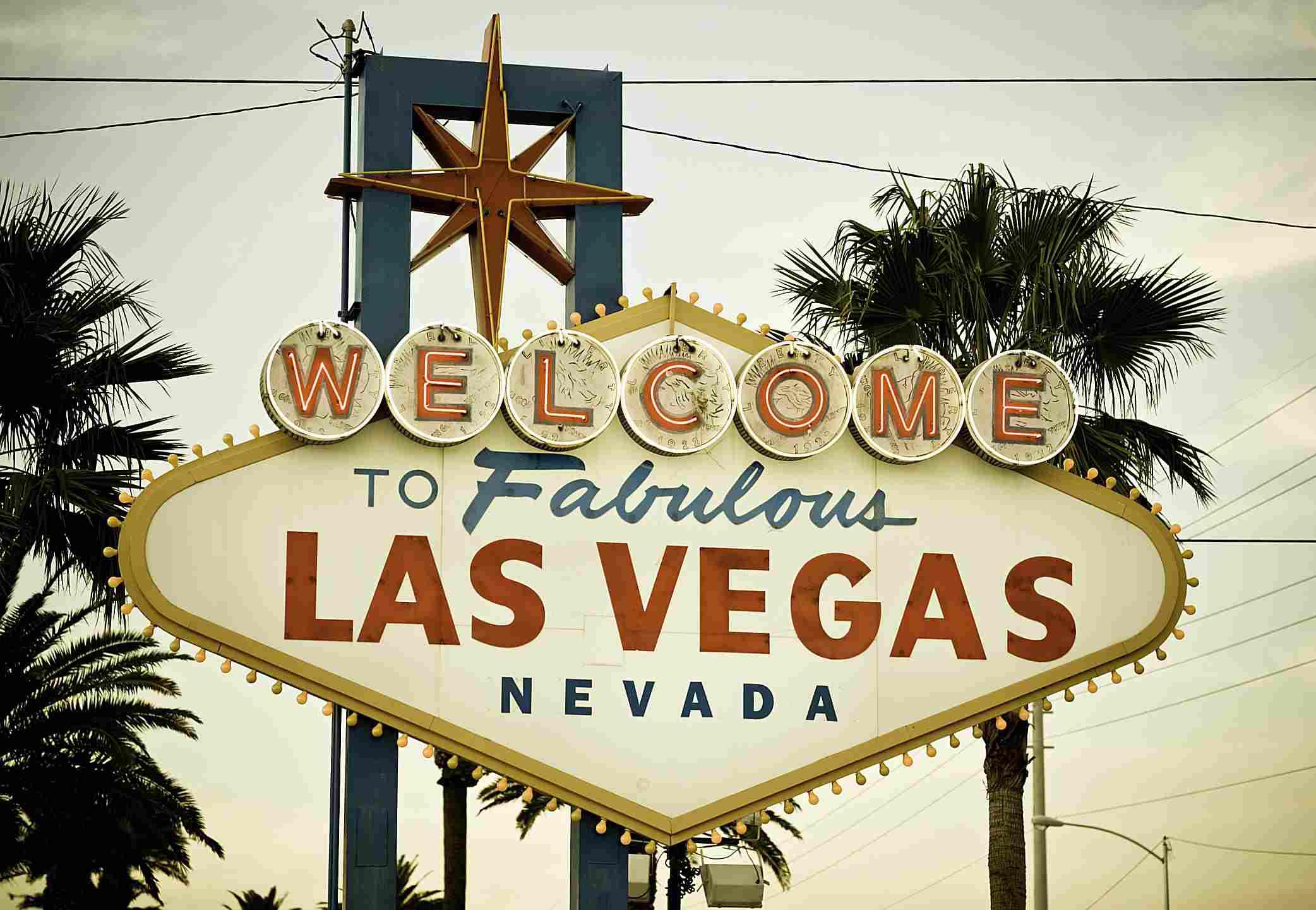 Letrero a la entrada a Las Vegas