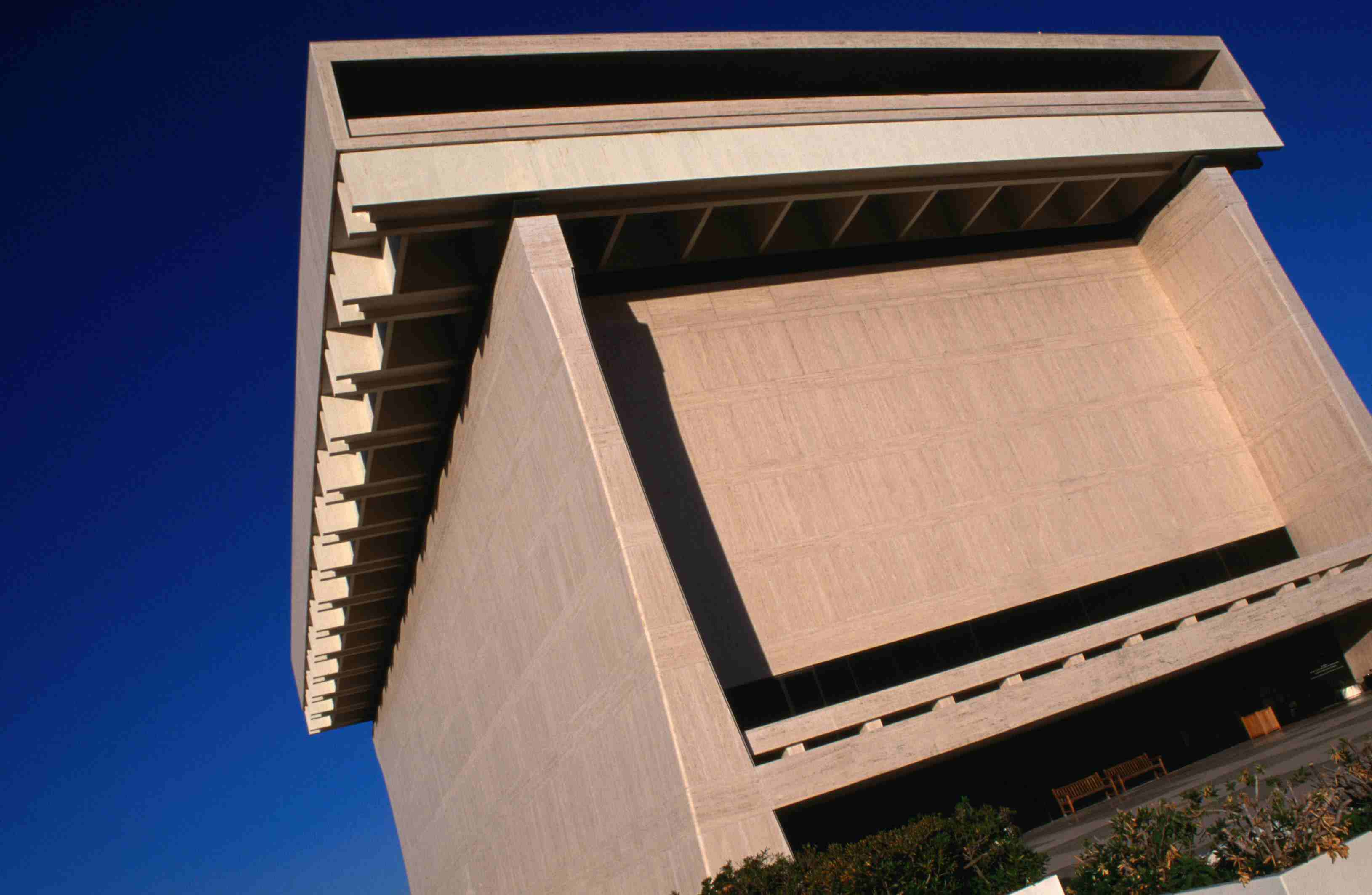 Detail of the LBJ Library in Austin, Texas