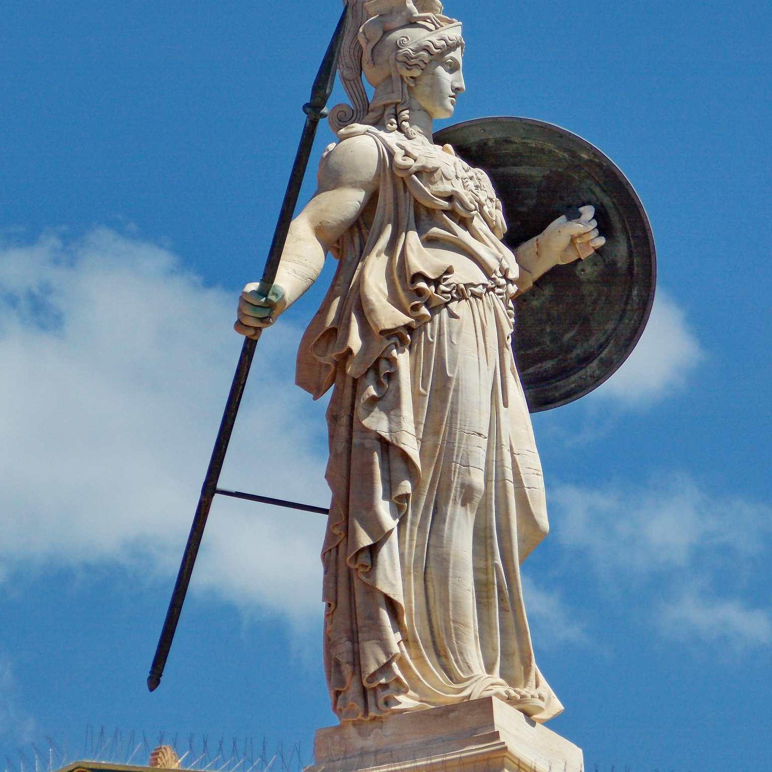 Athena Promachos, Academy of Athens