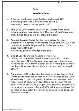 8th grade math word problems worksheets worksheet no 1 ibookread Read Online