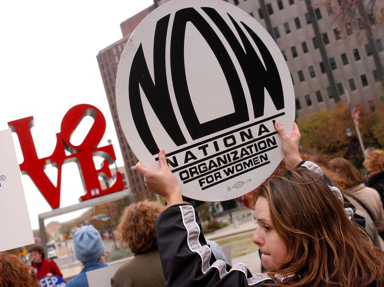 Pro-choice rally at Love Park November 13, 2003 in Philadelphia, Pennsylvania