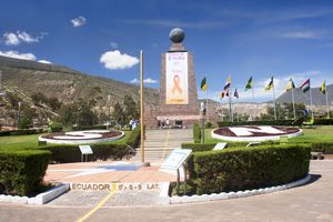 The line of the Equator in Ecuador.