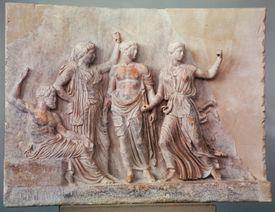 5th Century BC Greek Sculpture of Poseidon, Athena, Apollo, and Artemis