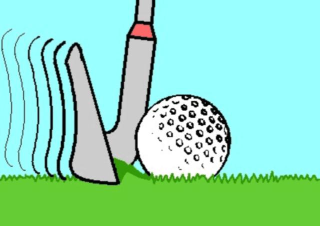 Illustration of a fat shot in golf