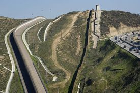 Views Of The Existing U.S. Mexico Border Wall