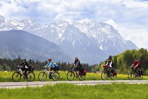A Family on a Cycling Tour