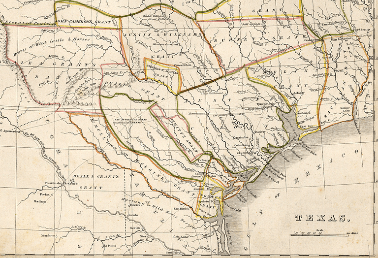 1835 historical map of texas from the perry castaeda library map collection