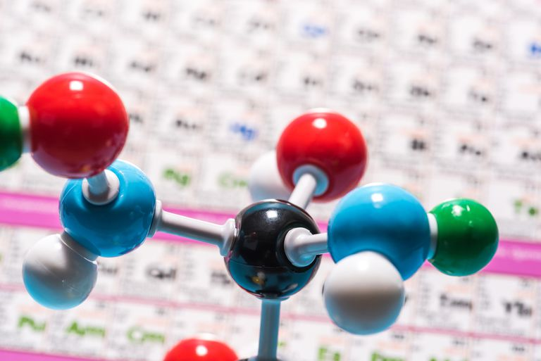 A colorful molecules model