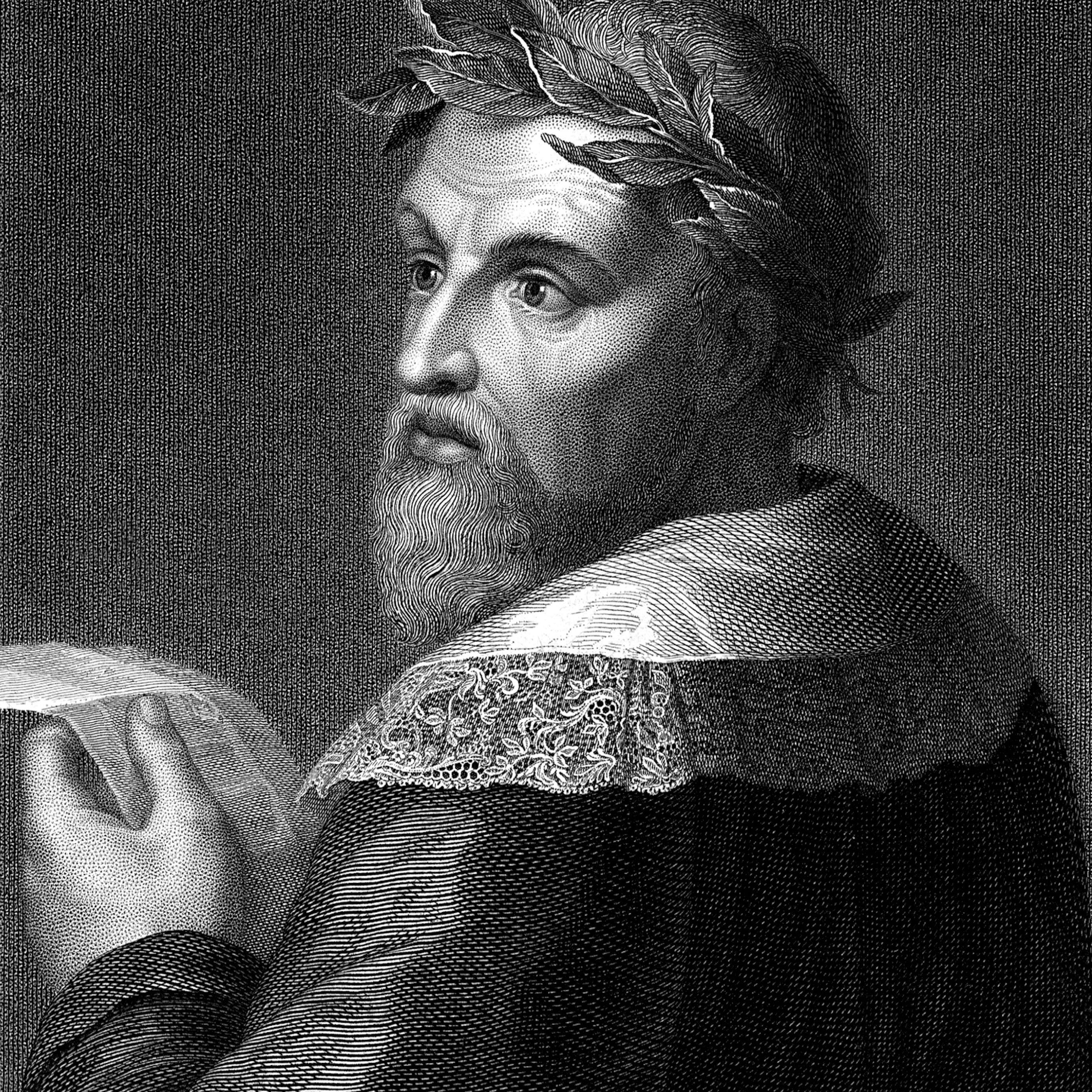 Engraved illustration of Ludovico Ariosto