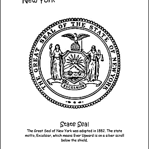 new york wordsearch crossword puzzle and more New York State Emblem new york coloring page state seal