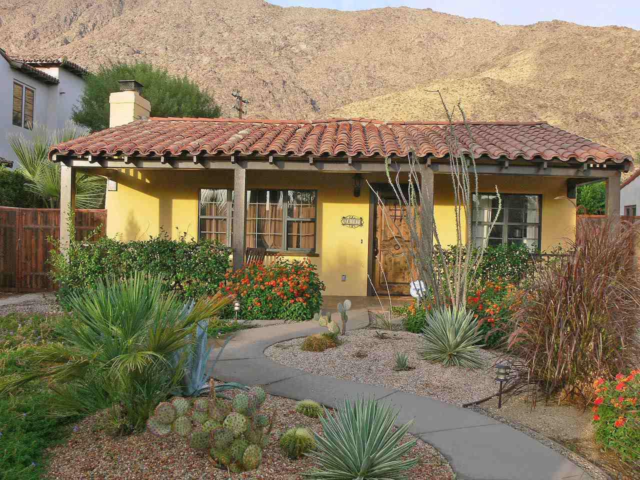 Ισπανική αναβίωση σπίτι στο Παλμ Σπρινγκς, Καλιφόρνια