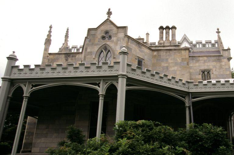 Gothic Revival Details On Lyndhurst Mansion In Tarrytown New York