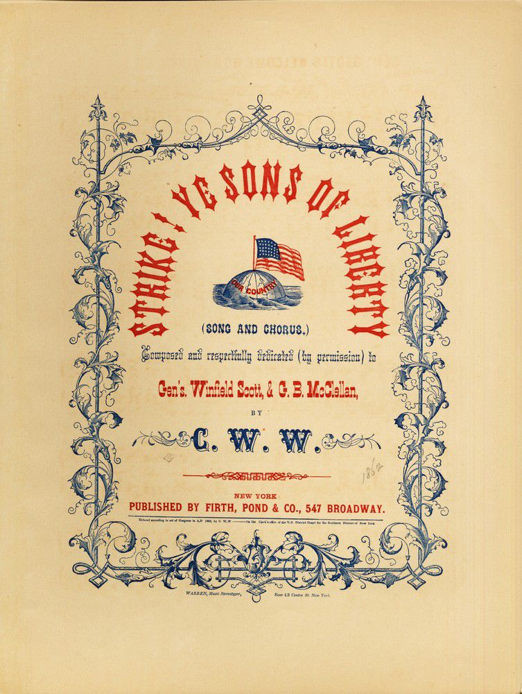 Sheet music cover image of song 'Strike! Ye Sons of Liberty!