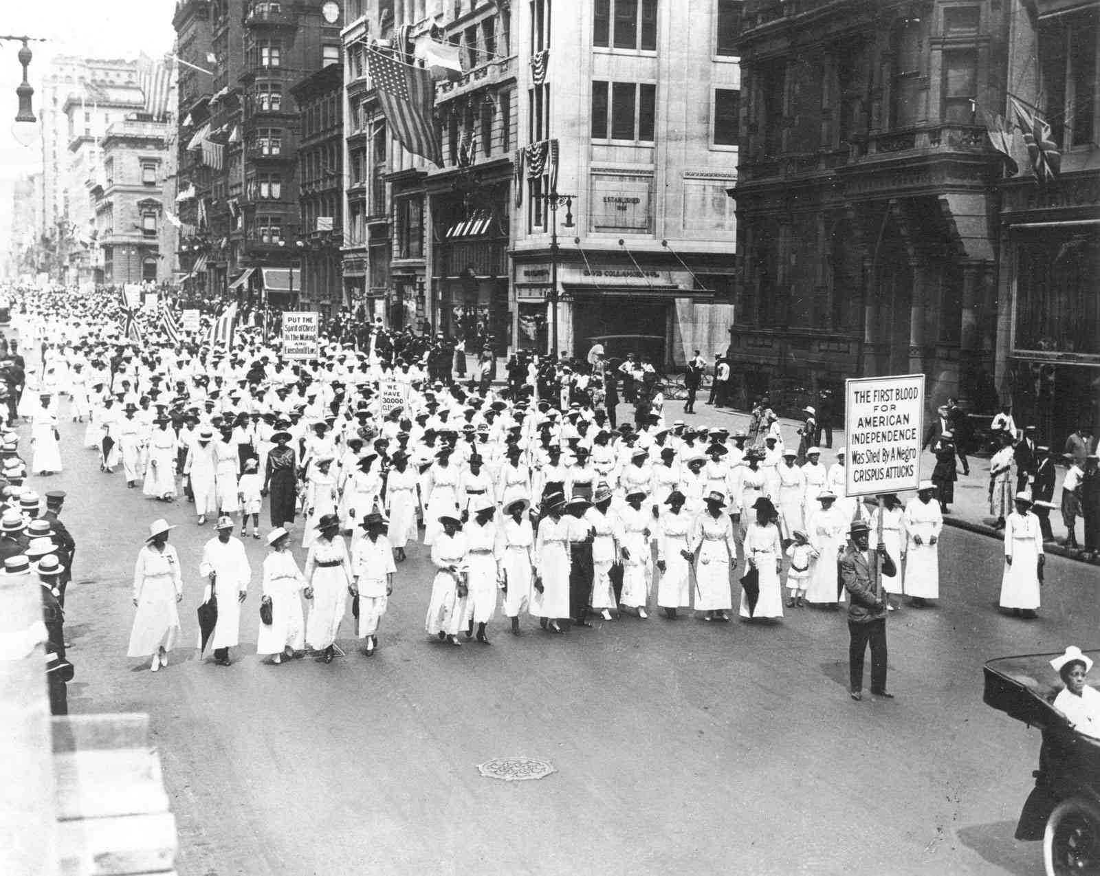 The Silent Parade of 1917.