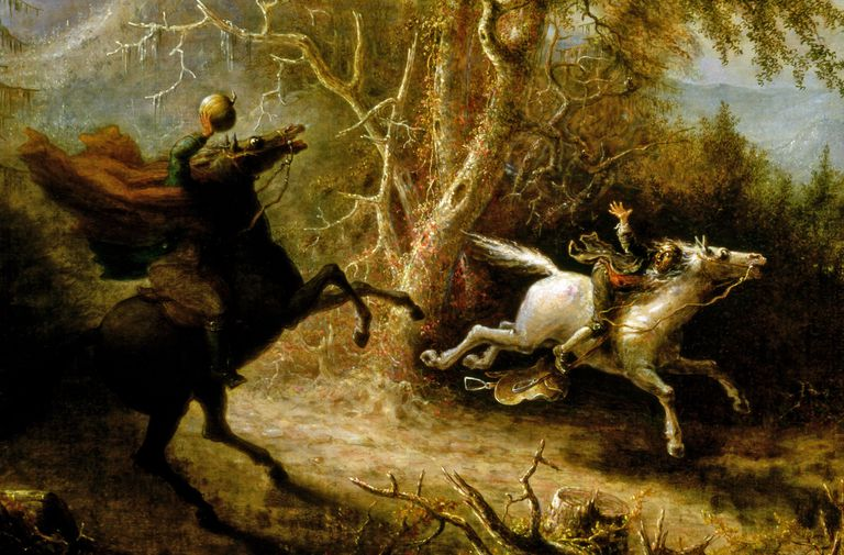 "Detail from ""The Headless Horseman Pursuing Ichabod Crane"" by John Quidor"