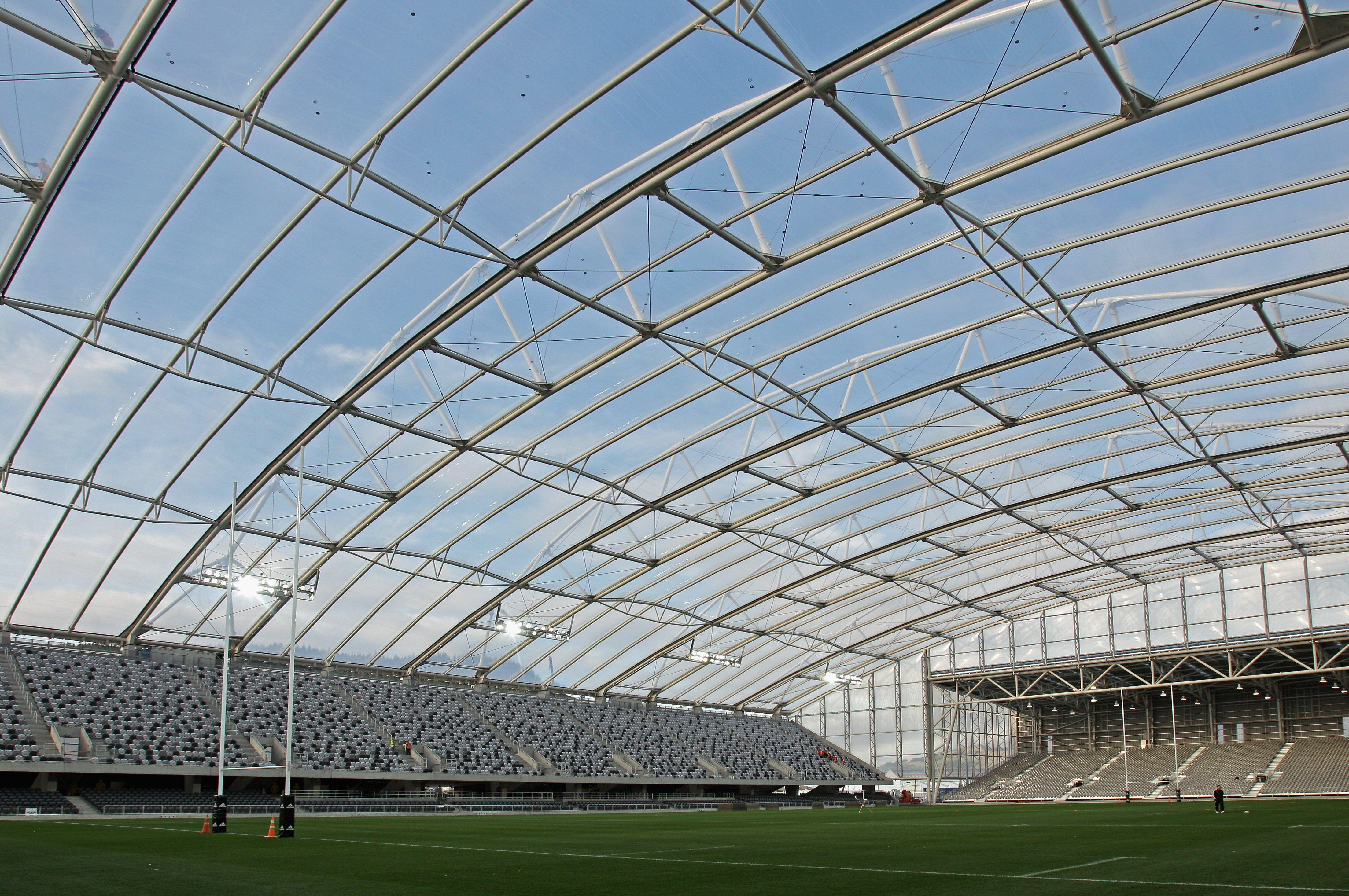 ETFE enclosed Forsyth Barr Stadium, New Zealand