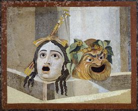 Mosaic with Theatrical Masks, from Villa Adriana, Lazio