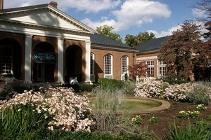 Sweet Briar College campus on a sunny day.