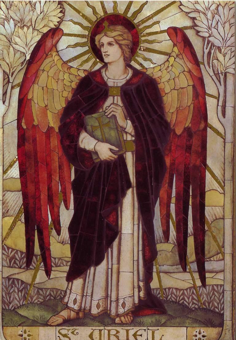 Mosaic of St. Uriel in St John's Church, Boreham, Wiltshire