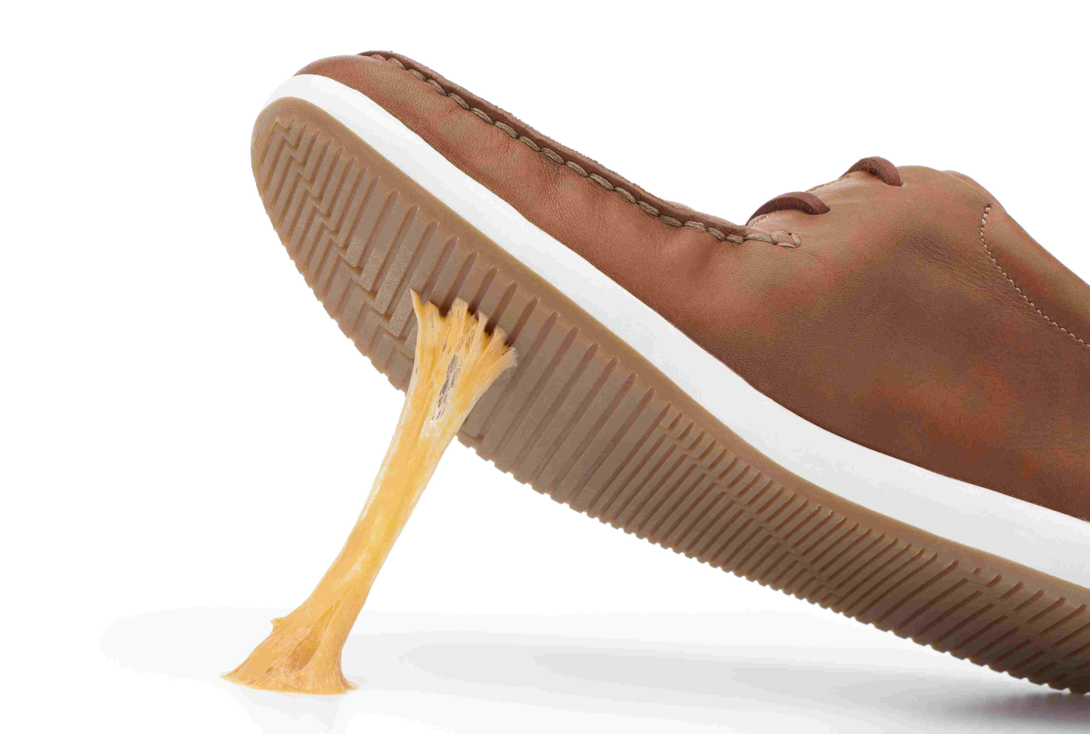 Gum on a shoe