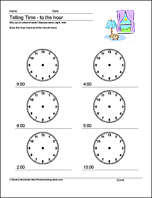 Creative ideas for teaching time telling time worksheets ibookread ePUb