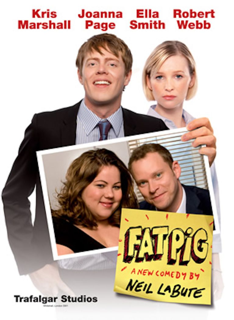 Fat Pig promotional poster (2008 London run, original cast)