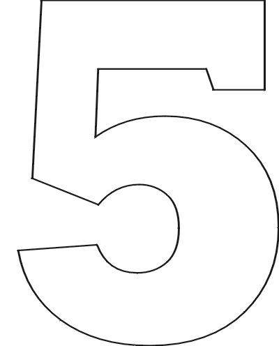 Free printable number stencils for Number 9 cake template