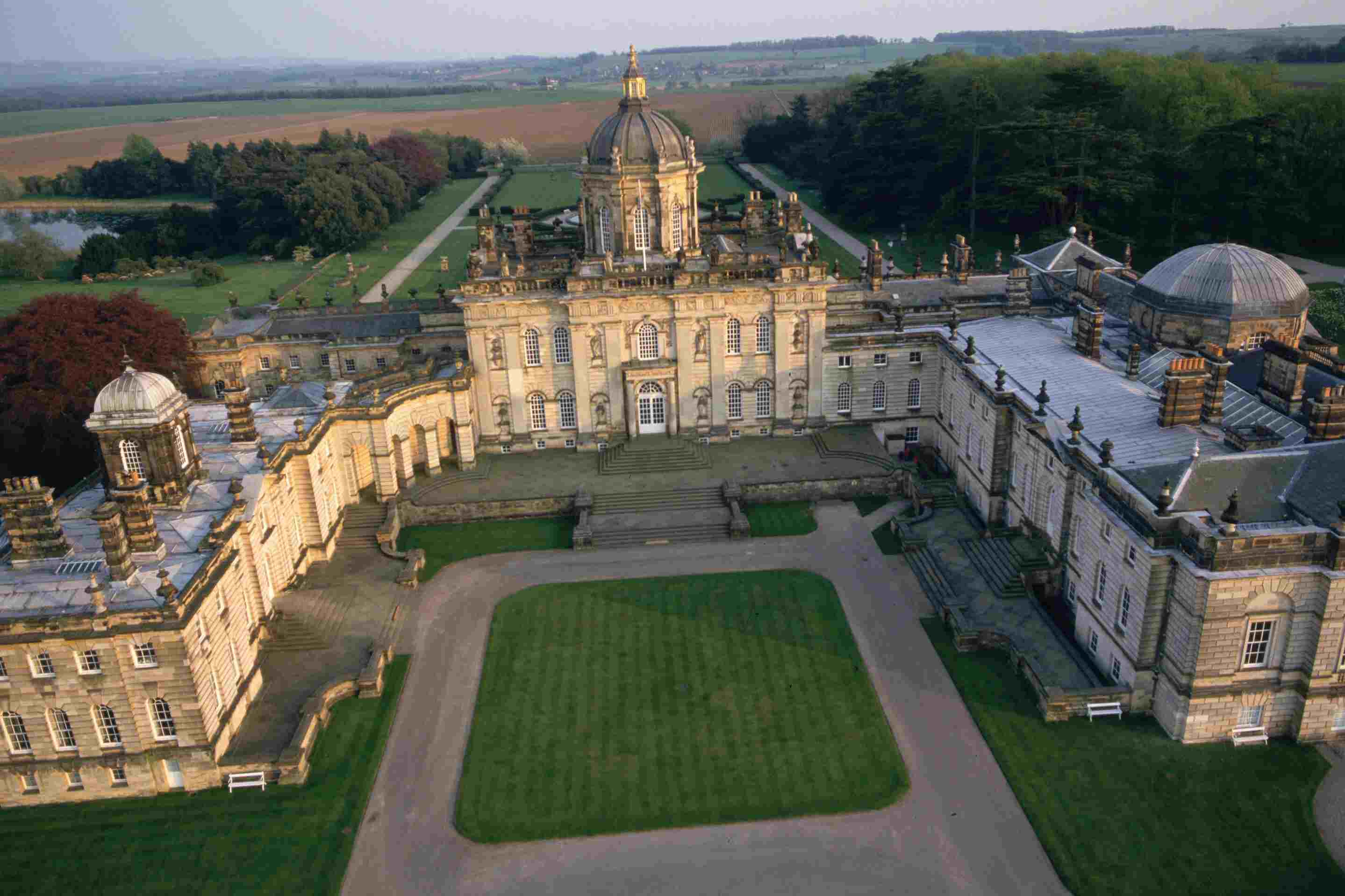 Aerial View of Castle Howard, Yorkshire, UK