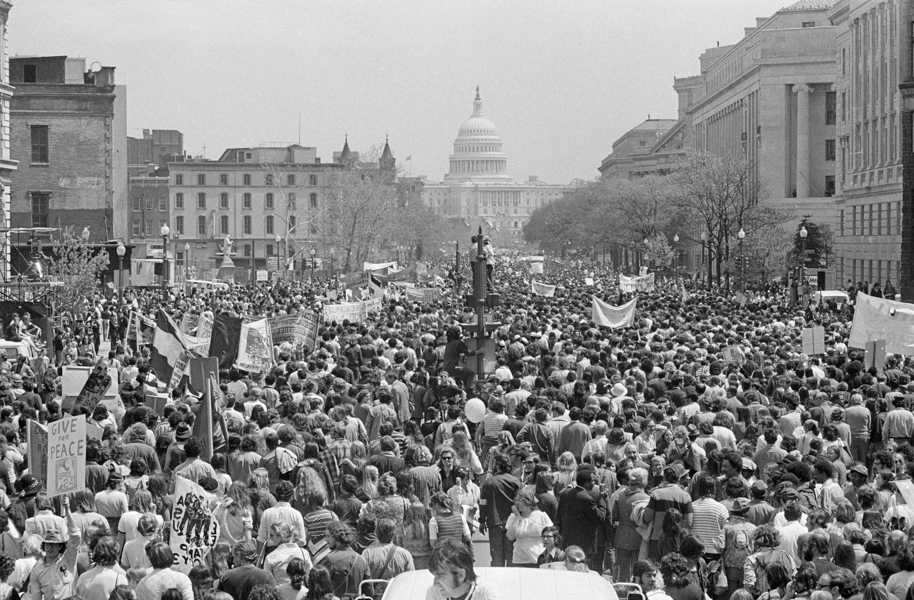 Photograph of Vietnam War protest in Washington