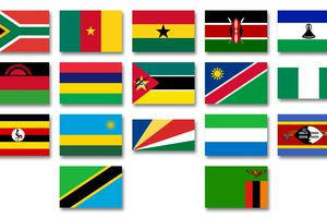 Flags Commonwealth of Nations African members
