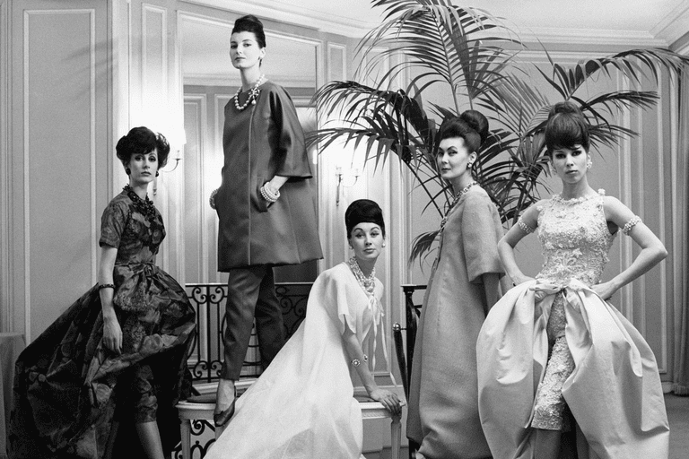 Dior models, late 1960s