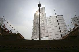 Replica Of Chinese Navigator Zheng He's Treasure Ship Finished In Nanjing