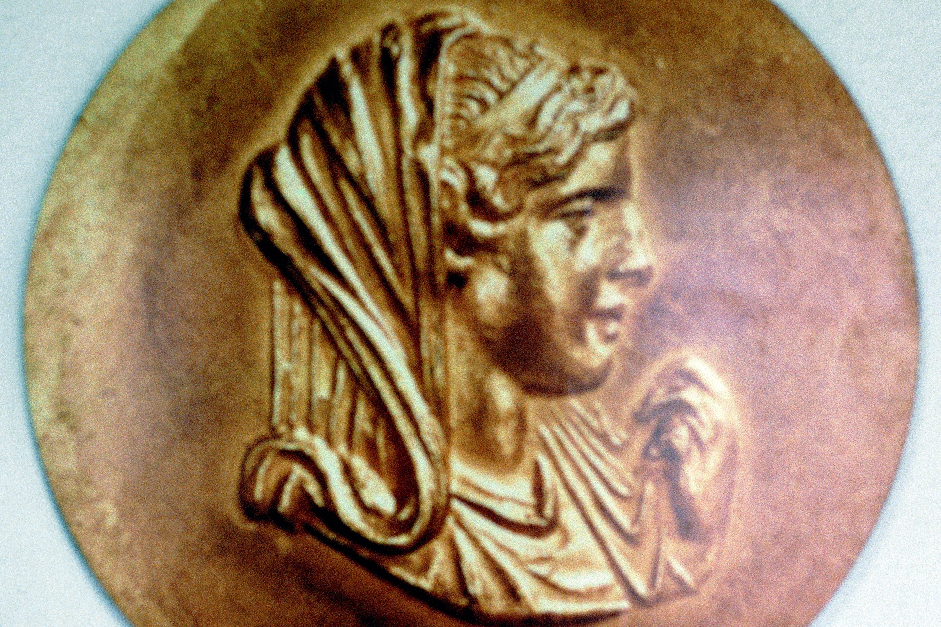 Medallion depicting Olympias, queen of Macedon