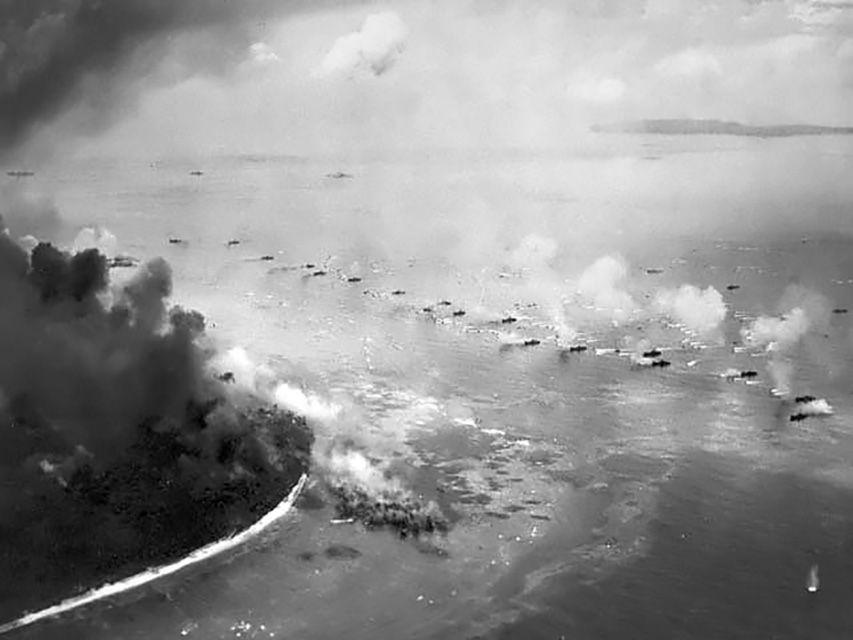 US Marines land on Peleliu