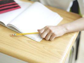 Pencil on a desk