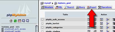 backup mysql database with phpmyadmin