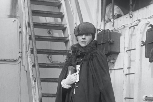 Writer Djuna Barnes on a Ship