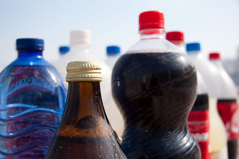 bottles of soft drinks