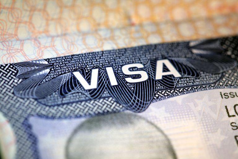 Foto de visa de los Estados Unidos