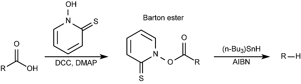 This is the general form of the Barton decarboxylation reaction.