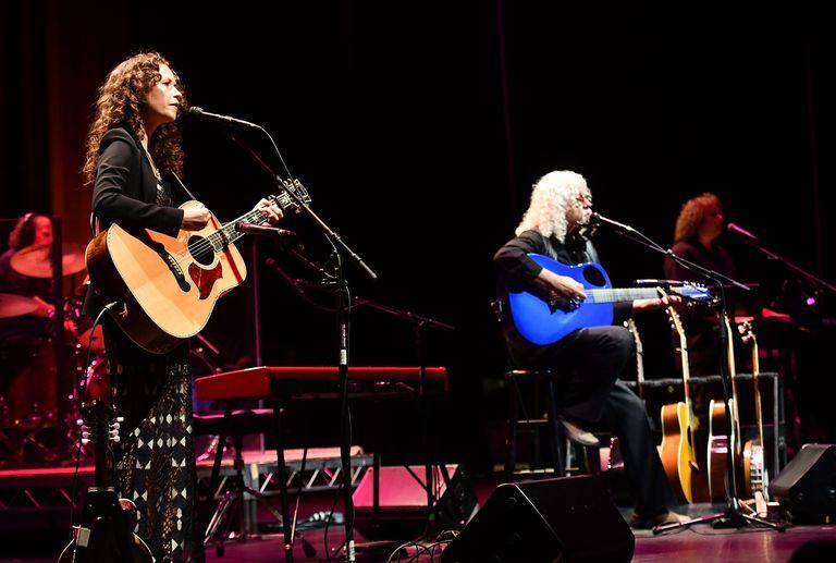 Arlo Guthrie and daughter sarah lee Perform At Saban Theatre