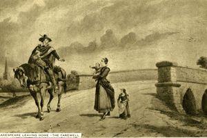 Portrait of Shakespeare leaving home