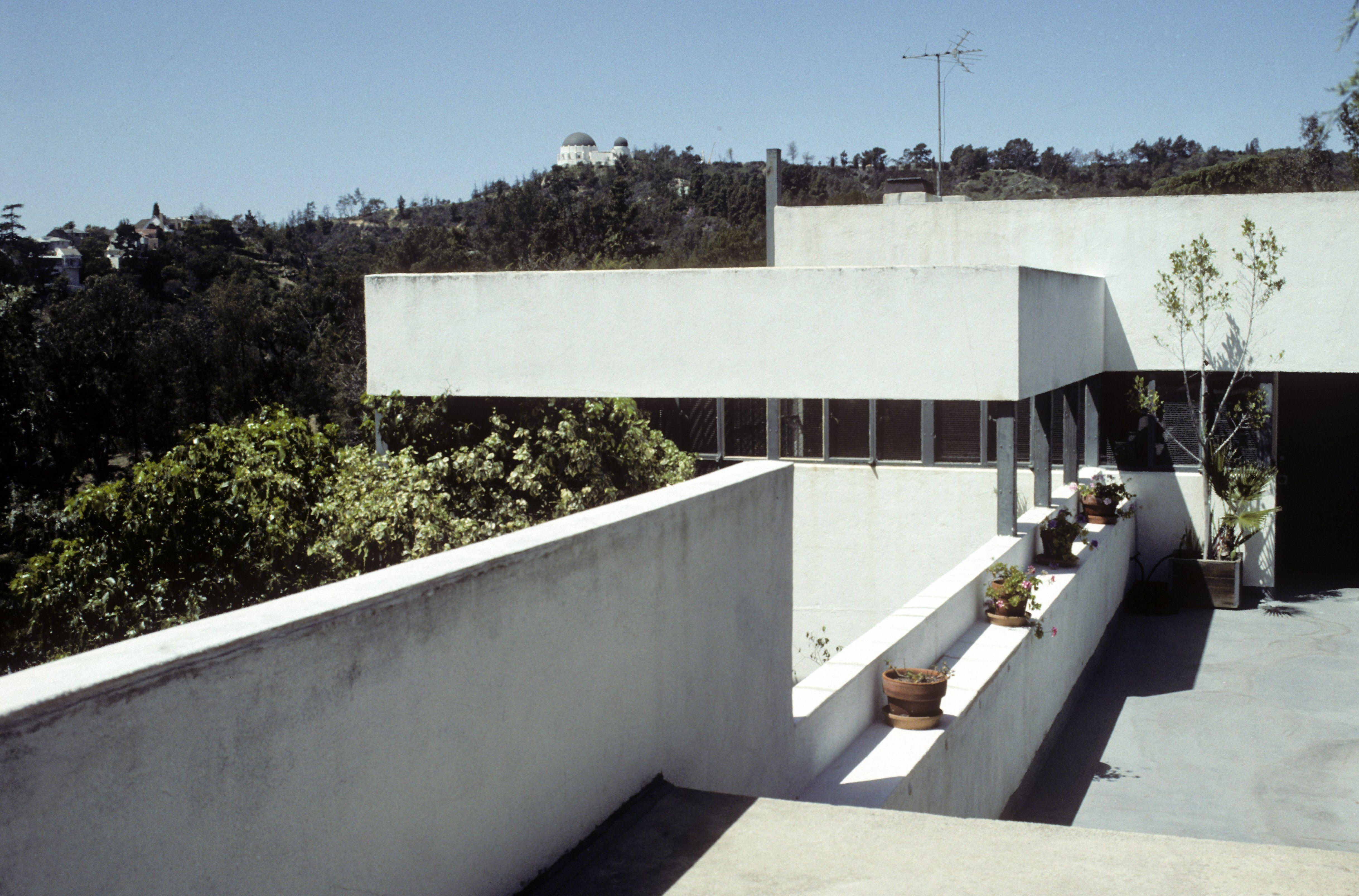 Richard Neutra designed Lovell House, International Style, in Los Angeles, California