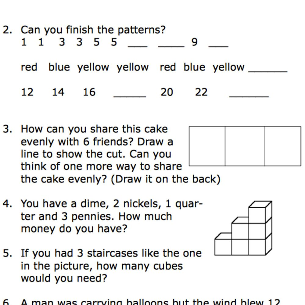 Printable Second-Grade Math Word Problem Worksheets