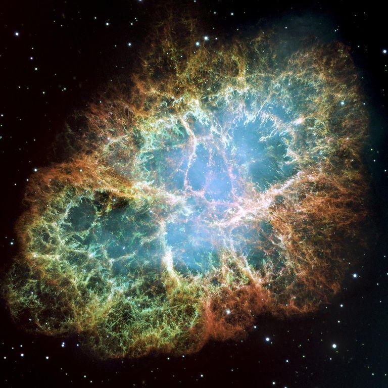 Crab Nebula representing the universe