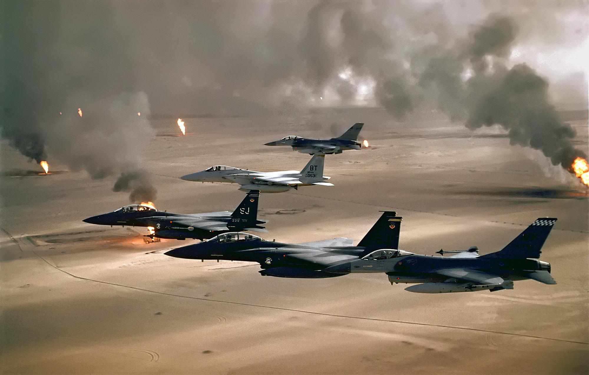 American aircraft during Operation Desert Storm